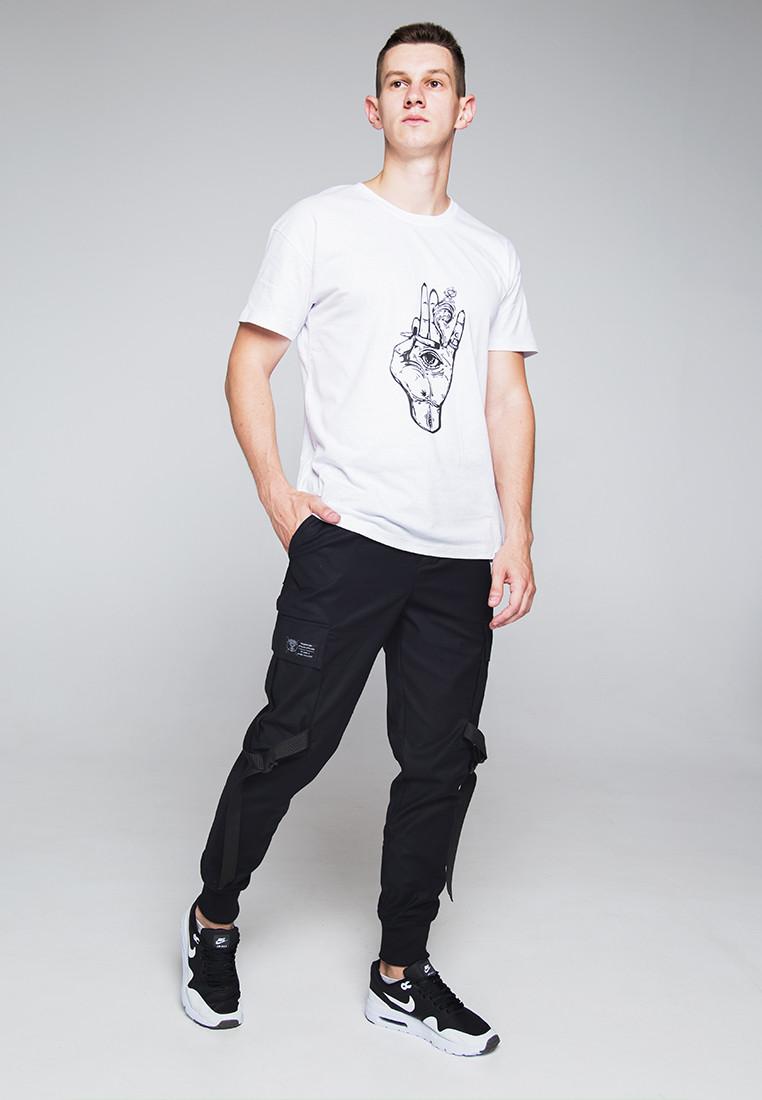 Зауженные карго штаны черные мужские от бренда ТУР Ёсимицу (Yoshimitsu) XL
