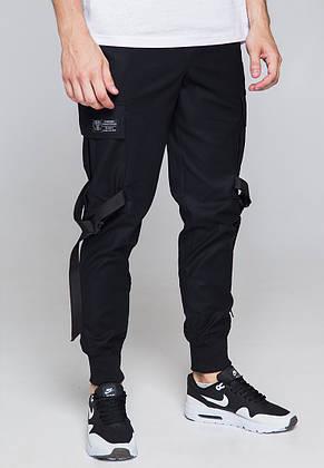 Зауженные карго штаны черные мужские от бренда ТУР Ёсимицу (Yoshimitsu) XL, фото 2