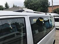 Рейлинги хром для VW Т5 (пластиковое крепление) короктая база / Рейлинги Фольксваген Мультивен