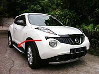 Боковые пороги Allmond Grey (2 шт, алюм.) Nissan Juke 2010↗ гг. / Боковые пороги Ниссан Жук, фото 1