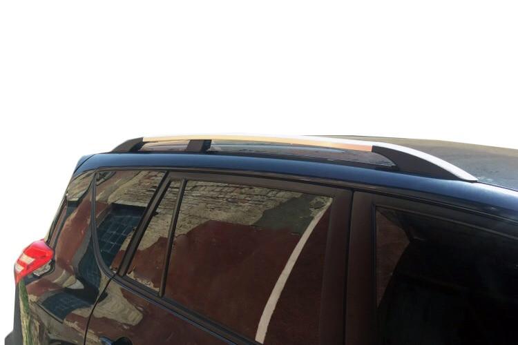 Купить рейлинги на Rav 4 2007↗ (хром, пластиковое крепление) на короткую базу / Рейлинги Тойота Рав 4