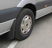 Колпаки из нержавейки (1 катк., 4 шт) Volkswagen Crafter 2006-2017 гг. / Хром колпаки Фольксваген Крафтер