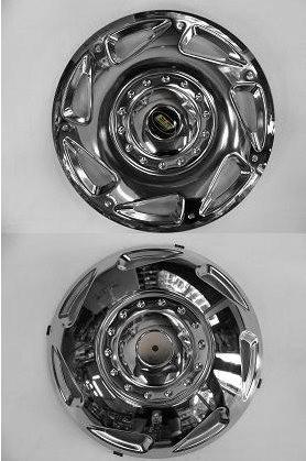 Колпаки из нержавейки (2 катк., 4 шт) Volkswagen Crafter 2006-2017 гг. / Хром колпаки Фольксваген Крафтер