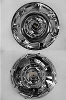 Колпаки из нержавейки (2 катк., 4 шт) Volkswagen Crafter 2006-2017 гг. / Хром колпаки Фольксваген Крафтер, фото 1