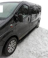 Nissan Primastar Боковые пороги Allmond Black короткая база / Боковые пороги Ниссан Примастар, фото 1