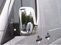 Mercedes Sprinter 906 Накладки на зеркала Carmos (нерж) / Накладки на зеркала Мерседес Бенц Спринтер, фото 1