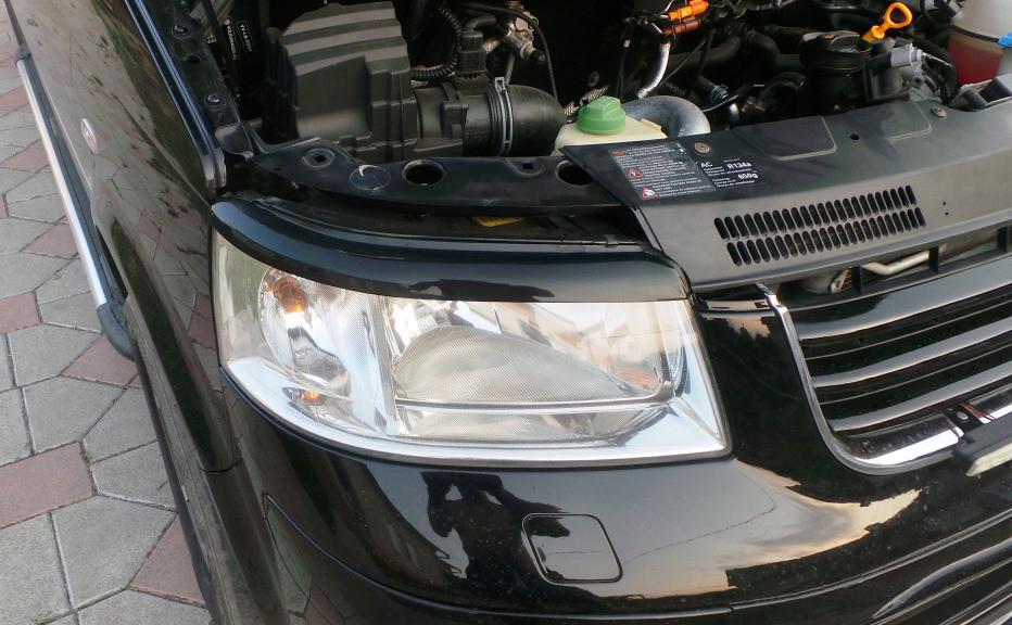 Реснички для фар Volkswagen Transporter T5 черный глянец / Реснички Фольксваген Т5 (Транспортер)