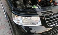 Реснички для фар Volkswagen Transporter T5 черный глянец / Реснички Фольксваген Т5 (Транспортер), фото 1