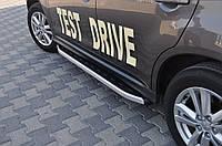 Боковые пороги Fullmond (2 шт, алюм.) Mitsubishi ASX 2010↗/2016↗ гг. / Боковые пороги Митсубиси АСХ , фото 1