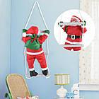 Дед мороз, Санта Клаус на лестнице, 50см., фото 7