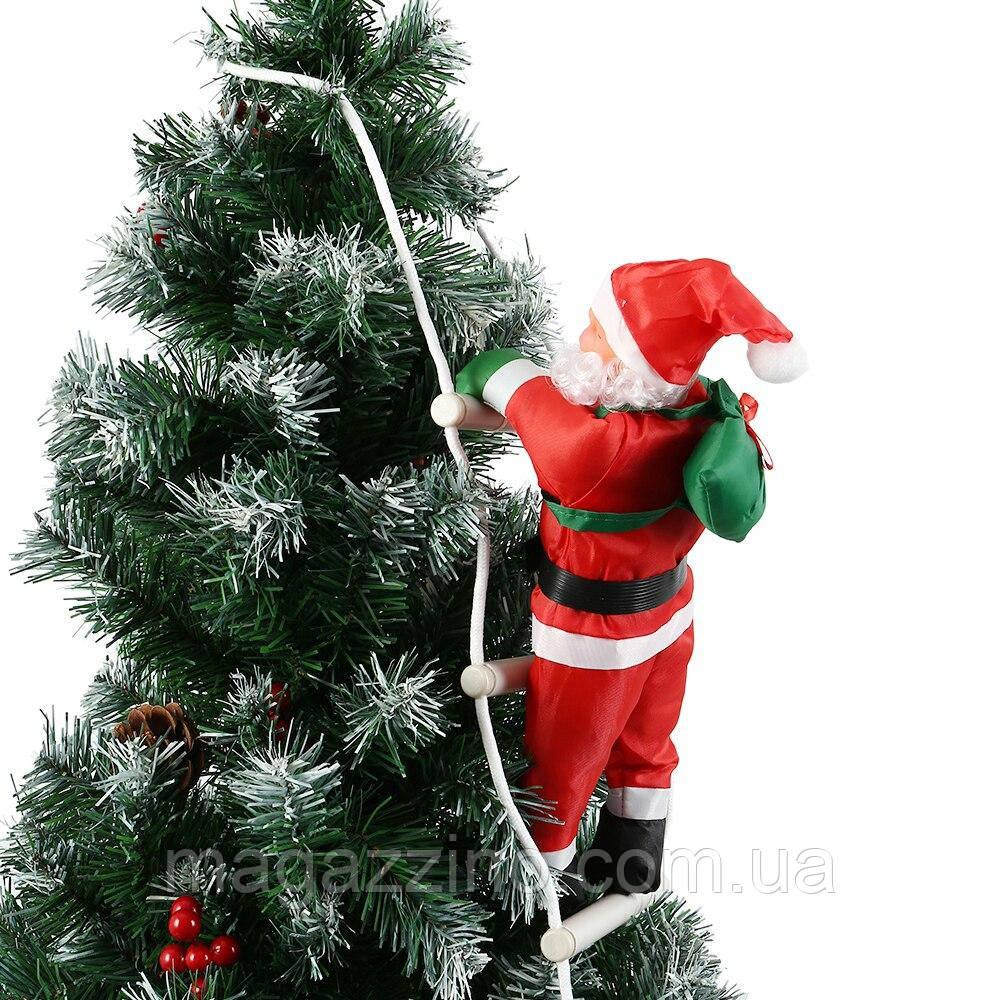 Дед мороз, Санта Клаус на лестнице, 50см.