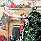Дед мороз, Санта Клаус на лестнице, 50см., фото 9