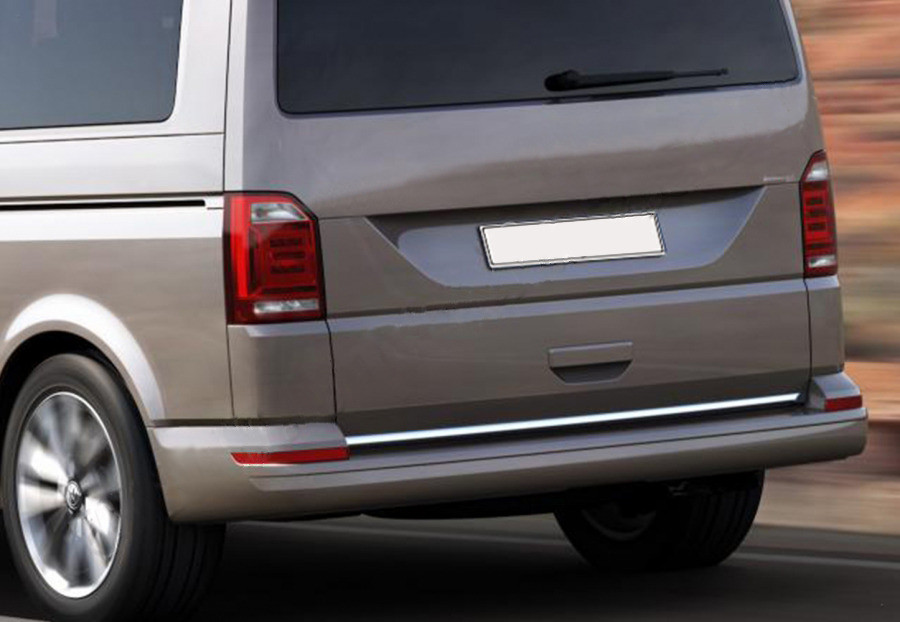 Volkswagen T6 Кромка багажника черный хром / Накладки на двери Фольксваген T6