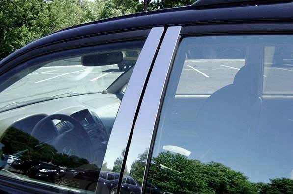 Молдинг дверных стоек (6 шт, нерж) Skoda Octavia A7 2013↗ гг. / Накладки на двери Шкода Октавия
