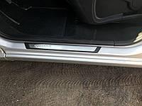 Renault Kangoo 2008↗ и 2013↗ гг. Накладки на пороги Exclusive / Накладки на пороги Рено Кенго, фото 1