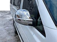 Mercedes Viano Накладки на зеркала Vito нержавейка Carmos / Накладки на зеркала Мерседес Бенц Виано, фото 1