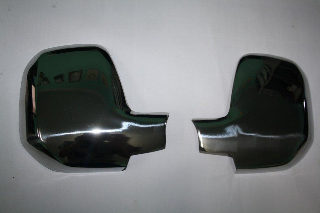Накладки на зеркала (2 шт., нерж.) Peugeot Partner Tepee 2008-2018 гг. / Накладки на зеркала Пежо Партнер Типи