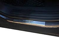 Накладки на пороги без надписи (4 шт, нерж.) Volkswagen Touareg 2002-2010 гг. / Накладки на пороги Фольксваген