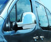 Peugeot Partner 2008-2012 Накладки на зеркала хромированный пластик Carmos / Накладки на зеркала Пежо Партнер