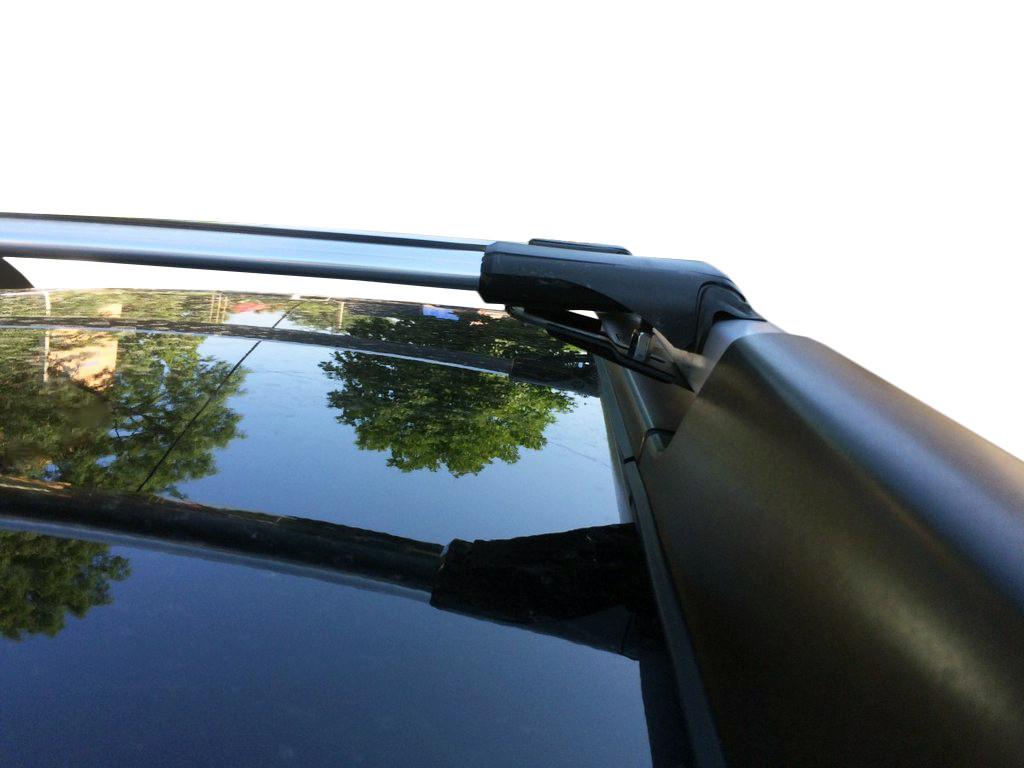 Renault Duster 2008-2014 Перемычки на рейлинги под ключ Черный / Багажник Рено Дастер