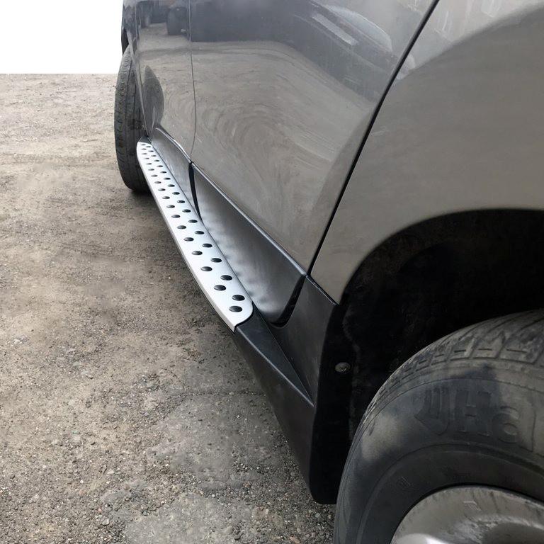 Боковые пороги OEM-BMW-V1 (2 шт, пластик) Hyundai IX-35 2010-2015 гг. / Боковые пороги Хюндай IX-35