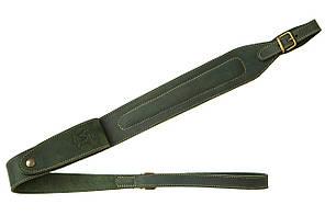 Ремень ружейный из кожи с патронташем Artipel, зелёный
