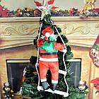 Дед мороз, Санта Клаус на лестнице, 120см., фото 7