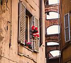 Дед мороз, Санта Клаус на лестнице, 120см., фото 8