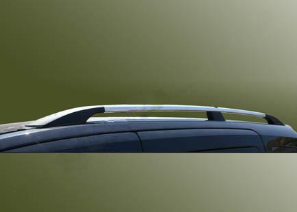 Ford Tourneo Custom Рейлинги Хром с пластиковыми ножками на короткую базу / Рейлинги Форд Транзит Кастом