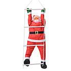 Дед мороз, Санта Клаус на лестнице, 120см., фото 4