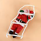 Дед мороз, Санта Клаус на лестнице, 120см., фото 6