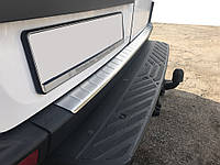 Накладка на бампер задний МАТОВАЯ (Omsa, нерж.) Mercedes Sprinter 2006-2018 гг. / Накладки на задний бампер, фото 1