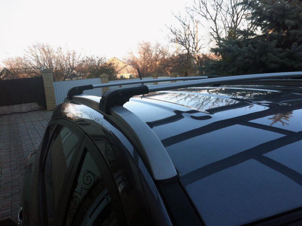 Hyundai IX35 Поперечный багажник на интегрированные рейлинги Серый / Багажник Хюндай IX-35