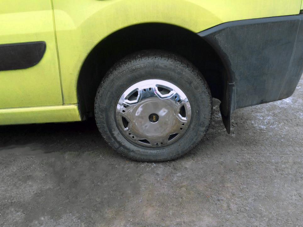 Колпаки из нержавейки (4 шт) Fiat Scudo 2007-2015 гг. / Хром колпаки Фиат Скудо