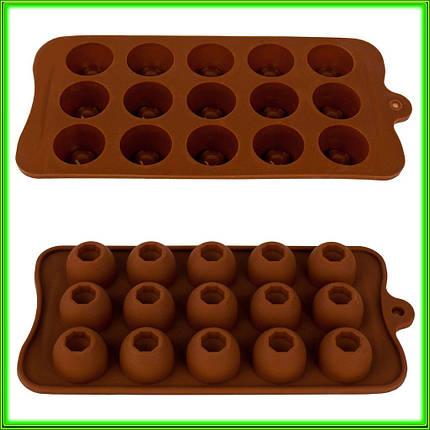 """Форма силиконовая для конфет """"Конфеты круглые"""" 21 см*10,5 см*1,5 см, фото 2"""
