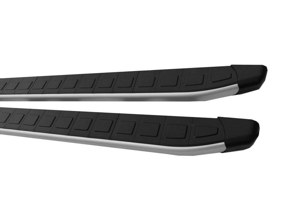 Боковые пороги Fullmond (2 шт., алюминий) Fiat 500/500L / Боковые пороги Фиат 500/500L
