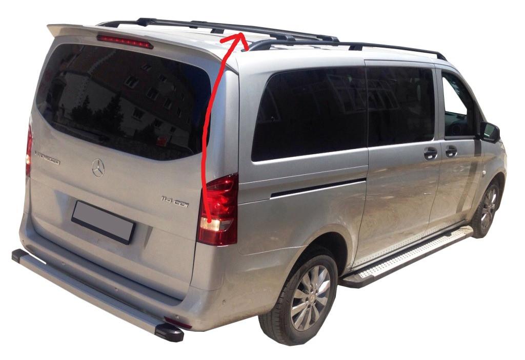 Mercedes Vaneo Перемычки багажник на рейлинги под ключ Черный / Багажник Мерседес Бенц Ванео