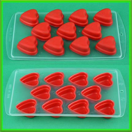 Формочки для льда силиконовые - сердечки, фото 2