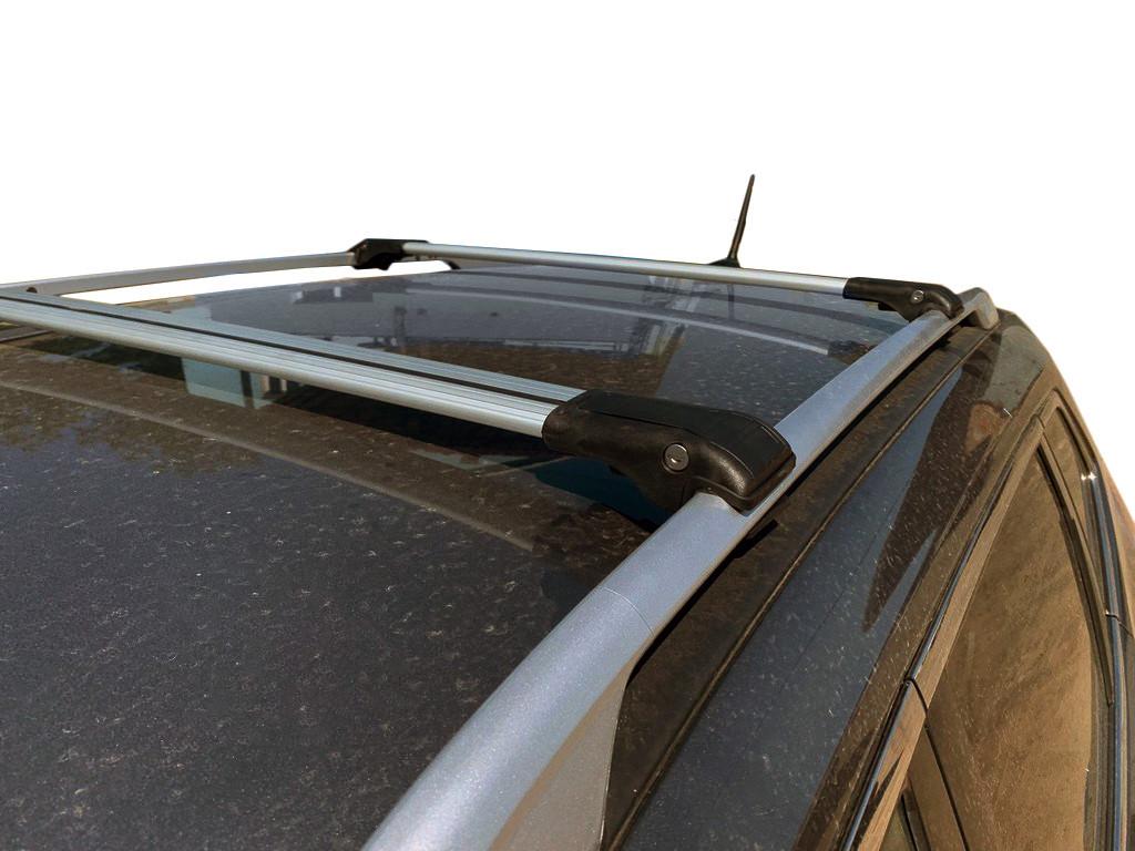 Nissan Qashqai 2014↗ Перемычки багажник на рейлинги под ключ Серый / Багажник Ниссан Кашкай