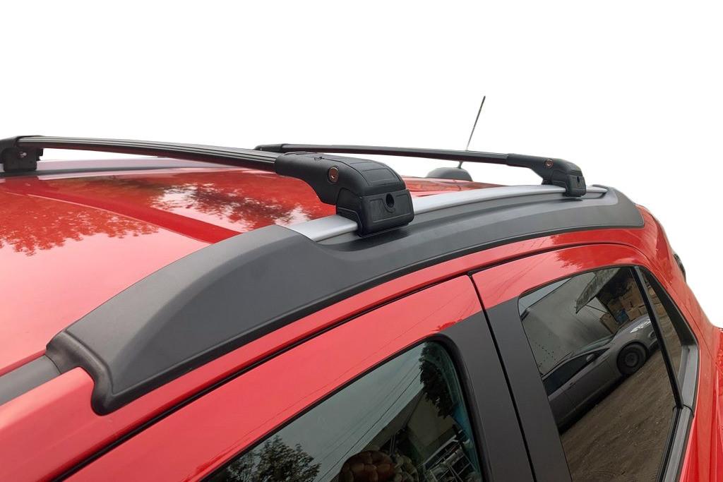 Opel Mokka Поперечный багажник на интегрированные рейлинги Черный / Багажник Опель Мокка