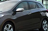 Hyundai Accent Solaris Накладки на зеркала под повторитель поворота Carmos / Накладки на зеркала Хюндай Акцент