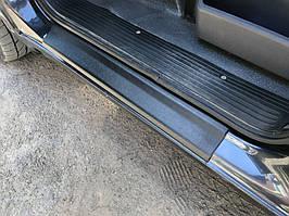 Mercedes Vito W638 Пластиковые накладки на пороги Глянец / Пластиковые накладки на пороги Мерседес Бенц Вито