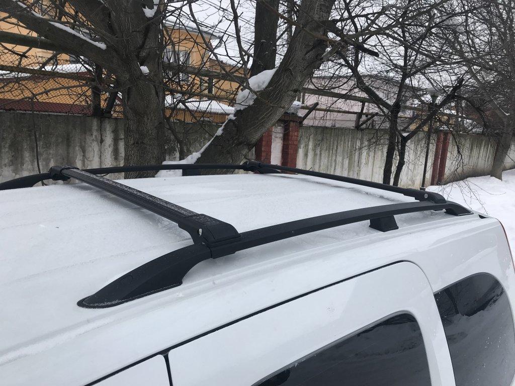 Mercedes Citan 2013↗ Перемычки багажник на рейлинги под ключ Серый / Багажник Мерседес Бенц Ситан