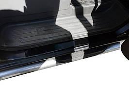 Накладки на пороги DDU (4 шт, пласт) Citroen Berlingo 2008-2018 гг. / Пластиковые накладки на пороги Ситроен