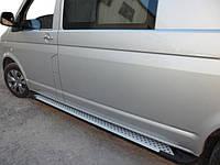 Volkswagen T5 Caravella Боковые подножки X-5 Allmond на короткую базу / Боковые пороги Фольксваген Каравелла, фото 1