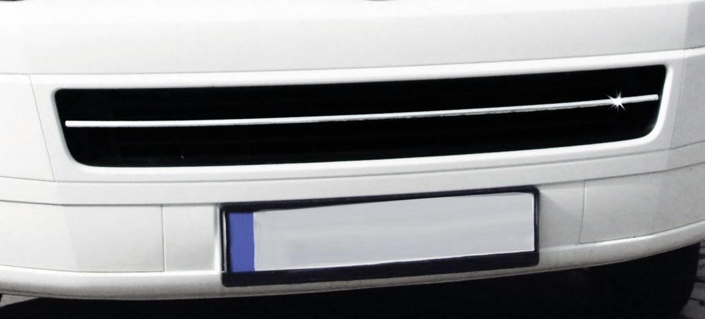 T5 Caravelle Накладка на решетку бампера (Carmos) / Защитные (хром) накладки на бампер Фольксваген Каравелла