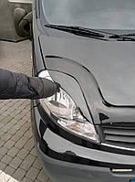 Renault Trafic Реснички Porsche-style черный лак / Реснички Рено Трафик