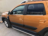 Renault Duster 2018↗ Нижняя окантовка стекол OmsaLine / Накладки на двери Рено Дастер, фото 1