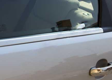 Нижняя окантовка стекол (8 шт, нерж) Ford Mondeo 2014↗ гг. / Накладки на двери Форд Мондео