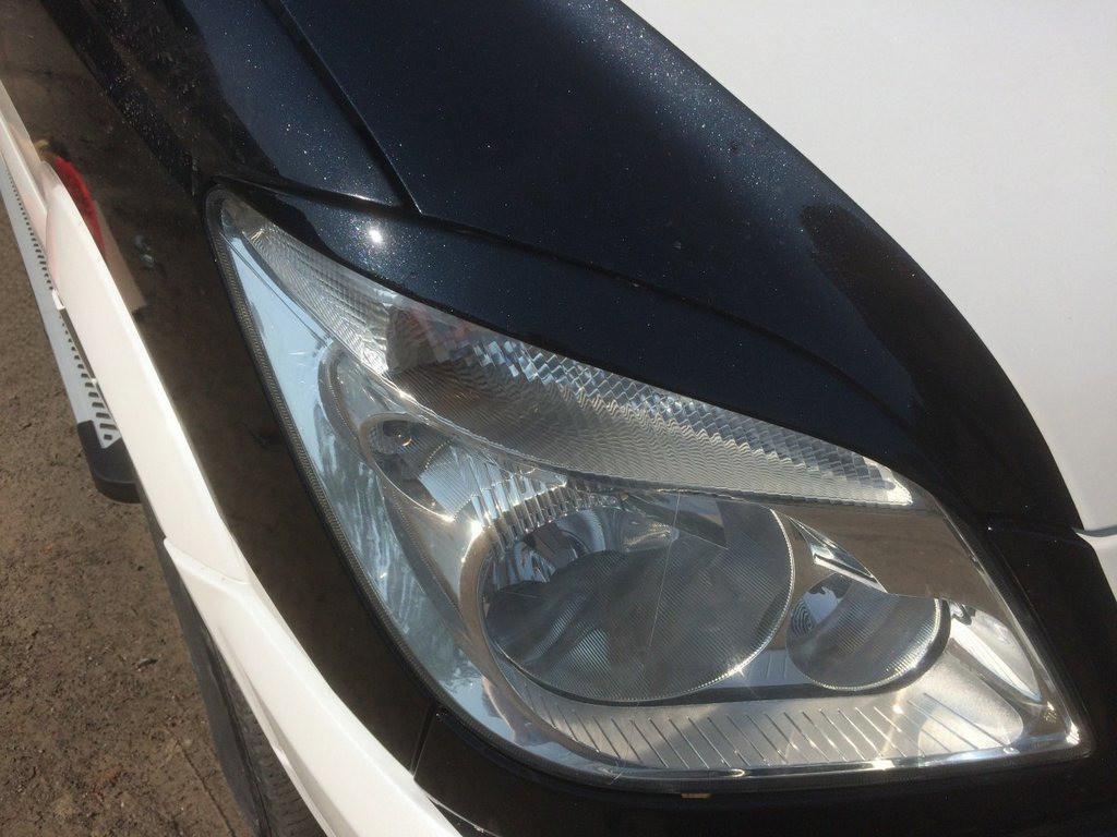 Mercedes Sprinter W906 Реснички прямые черный мат / Реснички Мерседес Бенц Спринтер